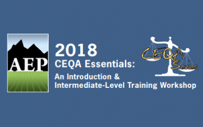 Rincon Teaching 2018 AEP CEQA Essentials Workshops